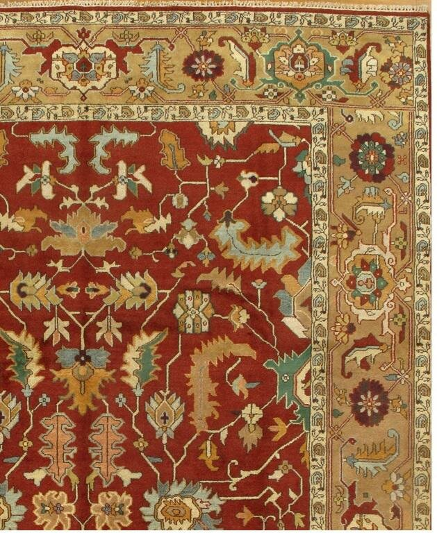 World Menagerie Aubepine Hand Knotted Wool Red Beige Area Rug Wayfair