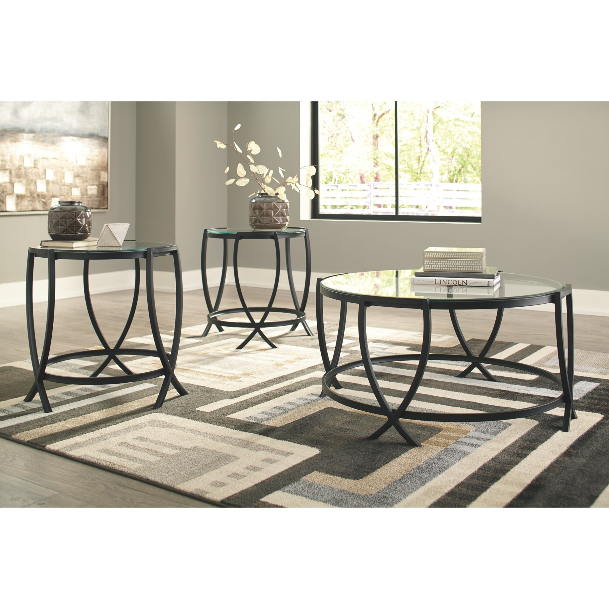 Ebern Designs Casserly 3 Piece Coffee Table Set Reviews Wayfair [ 2000 x 2000 Pixel ]