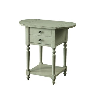 Eastbourne End Table with Storage by August Grove