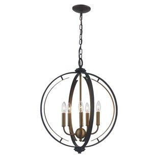 Charlton Home Terrell 5-Light Globe Chandelier