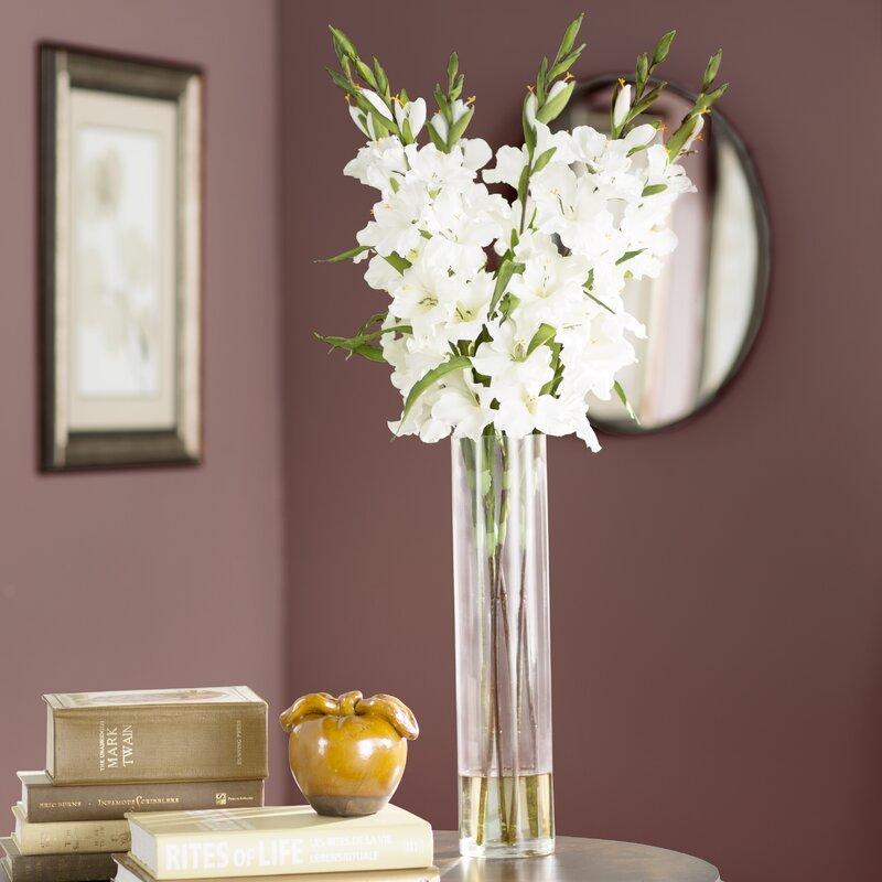 Willa Arlo Interiors Large Gladiola In Cylinder Vase Silk