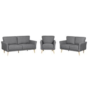 Compare prices Sanda 3 Piece Living Room Set by Latitude Run Reviews (2019) & Buyer's Guide