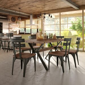 Darcelle 7 Piece Distressed Dining Set by 17 Sto..