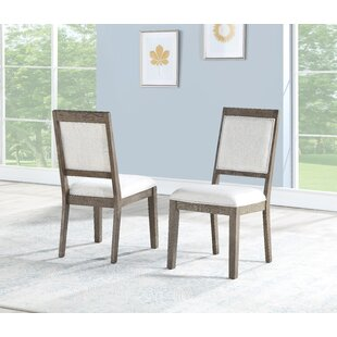 Kirkby Upholstered Dining Chair (Set of 2) Gracie Oaks