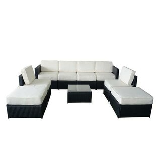 Rivesville 9 Piece Sectional Seating Group with Cushions