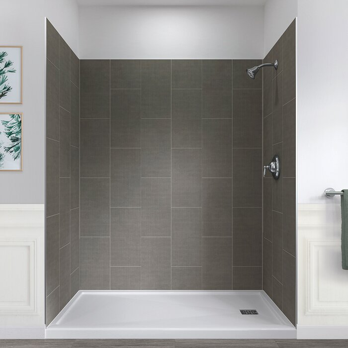 32 X 60 Shower Base.Jetcoat 78 X 60 X 32 Five Panel Shower Wall