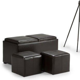 Simpli Home Avalon Storage Ottoman Set (Set of 3)
