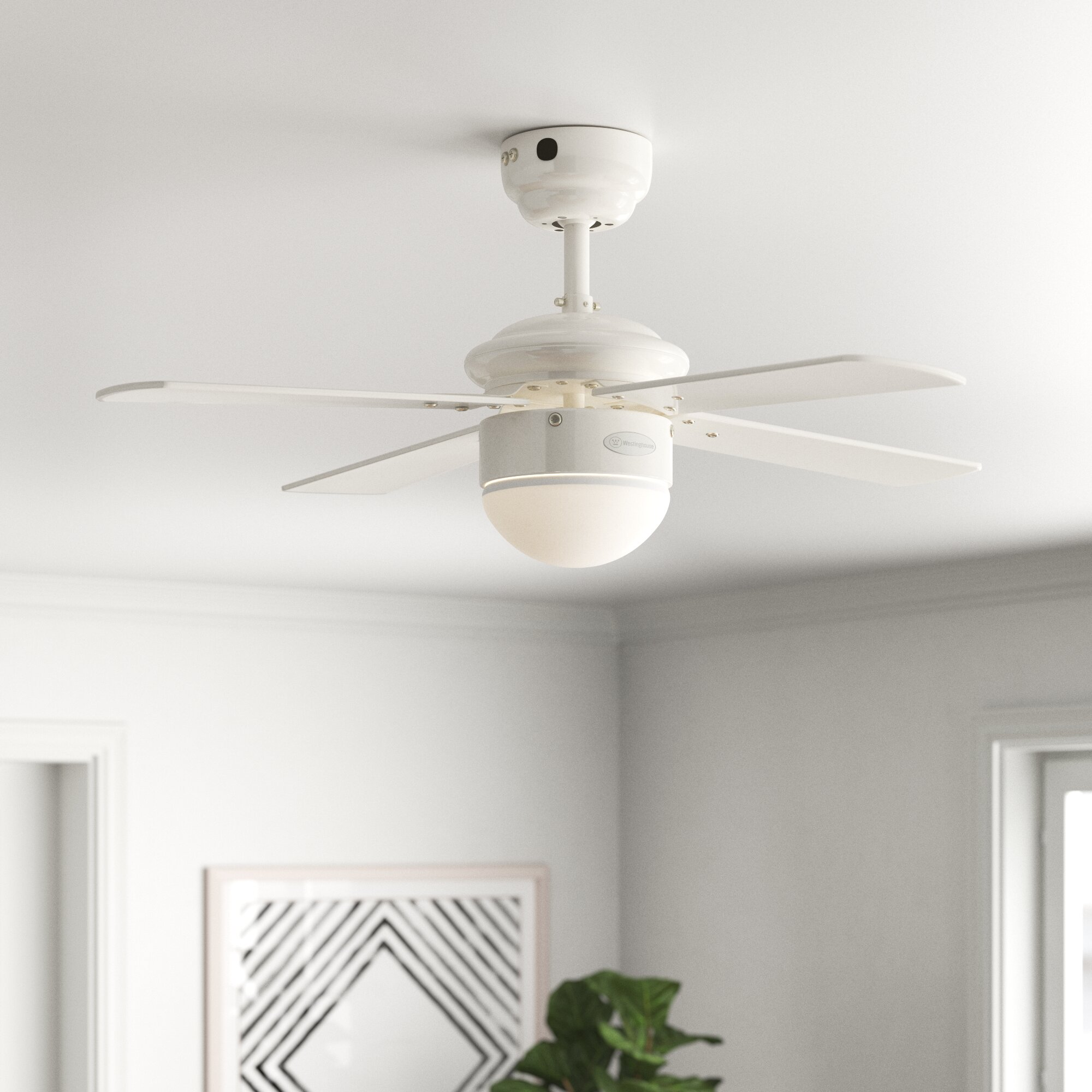 Zipcode Design Wirrian 90cm 4 Blade Ceiling Fan With Remote Reviews Wayfair Co Uk