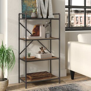 4 Tier Metal Pipe Etagere Bookcase 17 Stories