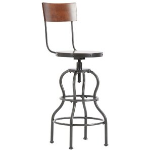 Antria Swivel Bar Height Stool by Mercury Row