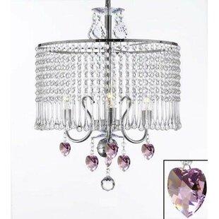 House of Hampton Juarez 3-Light Crystal Chandelier