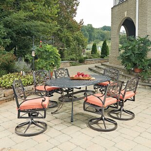 Six Oval 7 Piece Dining Set with Cushion