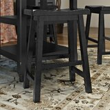 Benton Harbor Solid Wood 24 Counter Stool (Set of 2) by Alcott Hill®