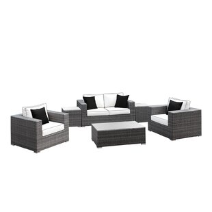 Yeager 6 Piece Rattan Sofa Set with Cushion