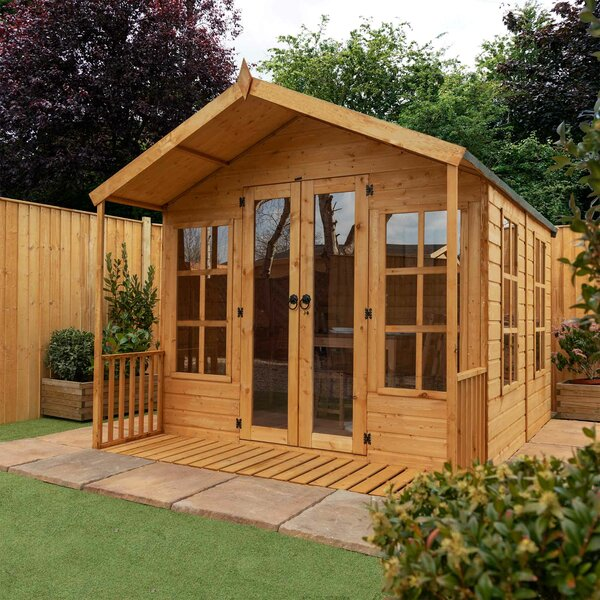 Sol 72 Outdoor Greenfield 8 X 11 Ft Shiplap Summer House
