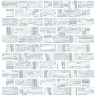 Signature Line Recycled Iridescent Gl Mosaic Tile In White