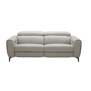 Nakale Motion Genuine Leather Reclining Sofa by Orren Ellis