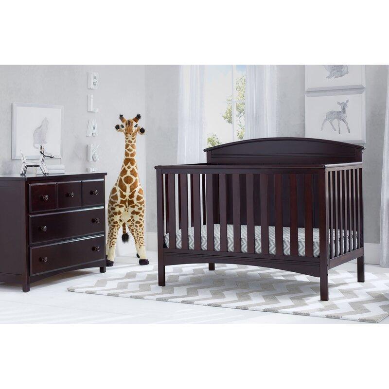 Delta Children Archer 4-in-1 Convertible 2-Piece Crib Set