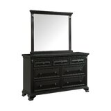 Shanon 7 Drawer Double Dresser with Mirror by Canora Grey
