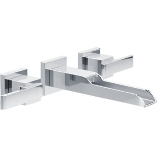 Delta Ara Wall Mounted Bathroom Faucet with Drain Assembly