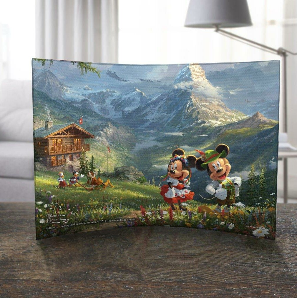 Trend Setters Disney Thomas Kinkade Mickey And Minnie Mouse Switzerland Alps Decorative Plaque Wayfair