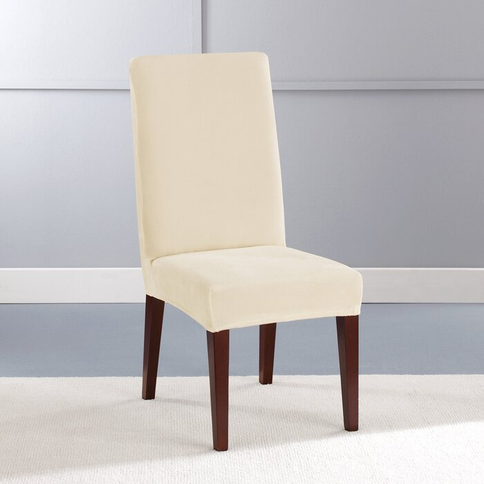 Admirable Stretch Plush Short Polyester Dining Chair Slipcover Uwap Interior Chair Design Uwaporg