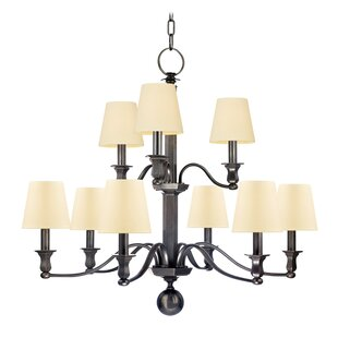 Elbert 2-Tier 9-Light Shaded Chandelier by Darby Home Co
