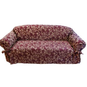 Jacquard Scroll Box Cushion Sofa Slipcover by Textiles Plus Inc.