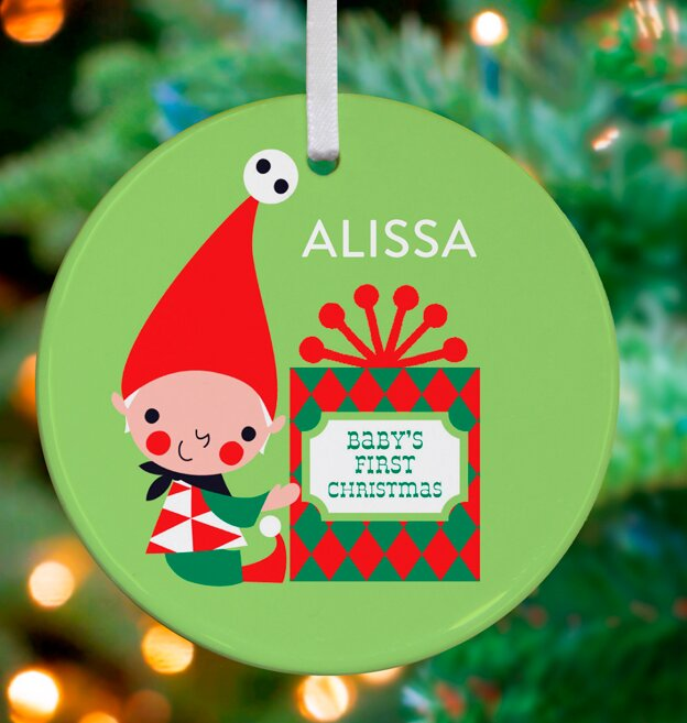 little babys first christmas personalized ornament by amy blay