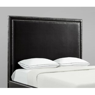 Dahms Nailhead Trim Upholstered Panel Headboard