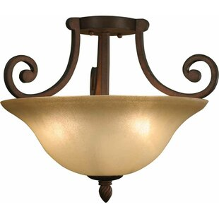 Isabela 3-Light Semi Flush Mount by Volume Lighting