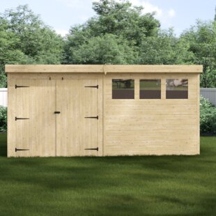 Callisto 14 Ft. W X 7 Ft. D Shiplap Pent Wooden Shed By Union Rustic