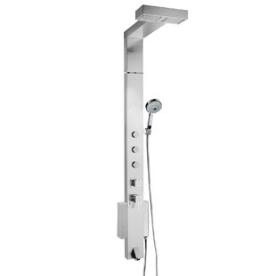 AKDY Tower Shower System with Rainfall Shower Head Height Adjustment Hand Shower - Valve Included