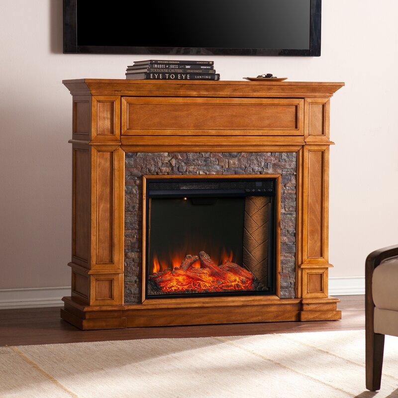Latitude Run Belleview Alexa Enabled Media Fireplace