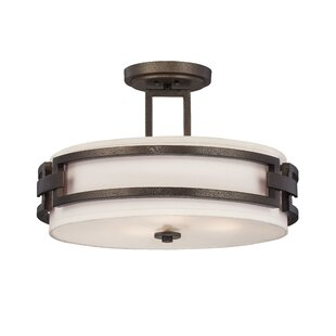 Deasia 3-Light Semi-Flush Mount by Millwood Pines