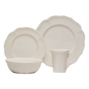 Classic White 16 Piece Dinner Set, Service for 4