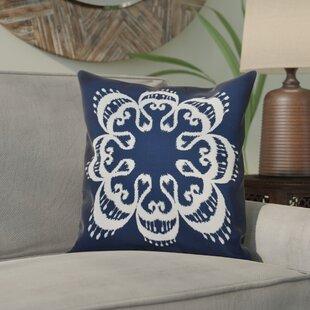 Meetinghouse Ikat Mandala Geometric Outdoor Throw Pillow