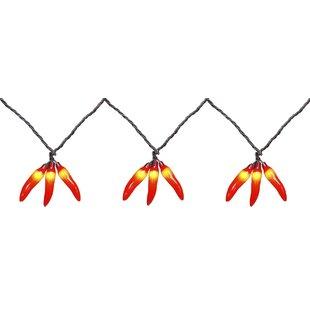 Penn Distributing 36-Light Chili Pepper Cluster String Lights