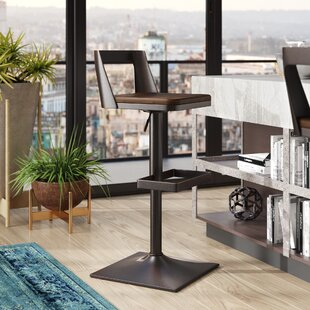 Flagler Adjustable Height Swivel Bar Stool by Trent Austin Design Reviews
