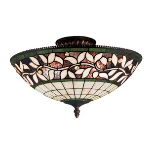 Barks 3-Light Semi-Flush Mount by Fleur De Lis Living