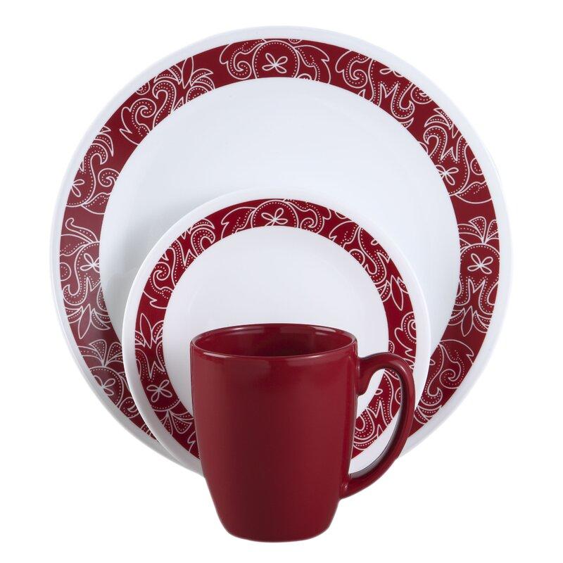 Attractive Livingware Bandhani 16 Piece Dinnerware Set, Service For 4