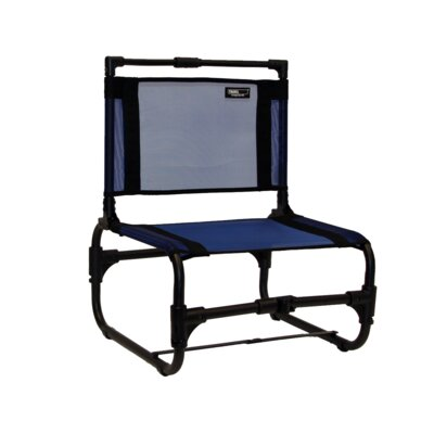 Larry Folding Beach Chair Travel Chair Fabric Color: Blue