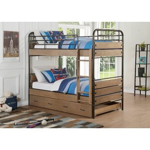 Simcox Twin over Twin Bed with Trundle by Harriet Bee