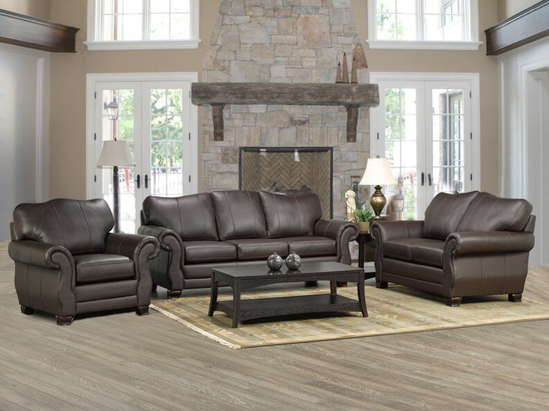 Merveilleux Huntington Italian Leather Sofa
