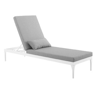 Wilma Outdoor Reclining Chaise Lounge with Cushion
