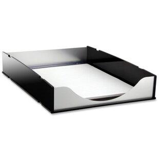 Letter Tray, Aluminum, Black/Acrylic by Kantek