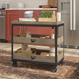 Fort Oglethorpe Kitchen Cart by Laurel Foundry Modern Farmhouse