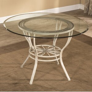 Glass Round Dining Table For 6 glass kitchen & dining tables you'll love | wayfair
