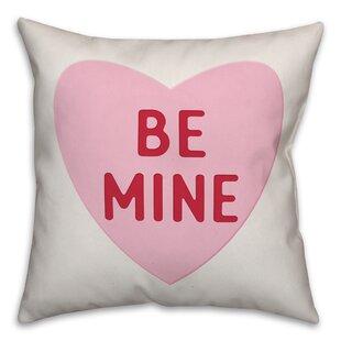 Drexler Be Mine Candy Heart Throw Pillow