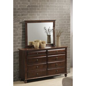 Lehigh 8 Drawer Dresser with Mirror by Darby Home Co